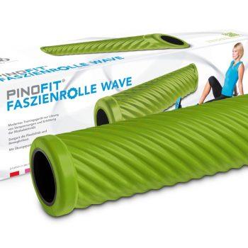 PINOFIT masāžas rullis ar viļņiem 45 cm, laima zaļš