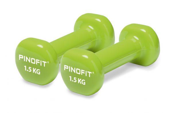 PINOFIT hanteles 2 x 1.5 kg, laima zaļas