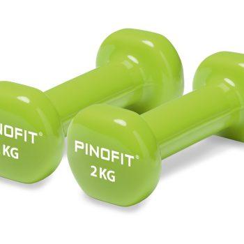 PINOFIT hanteles 2 x 2.0 kg, laima zaļas