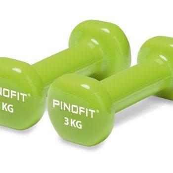 PINOFIT hanteles 2 x 3.0 kg, laima zaļas