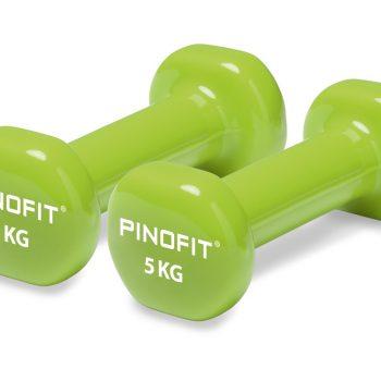 PINOFIT hanteles 2 x 5.0 kg, laima zaļas