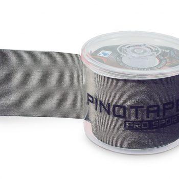 PINO TAPE Pro Sport kinezioloģiskais teips 5 cm x 5 m, kastītē tumši pelēks