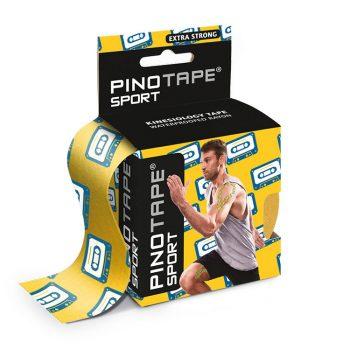 "PINO TAPE Pro Sport kinezioloģiskais teips 5cm x 5 m, ar apdruku ""kasete"""