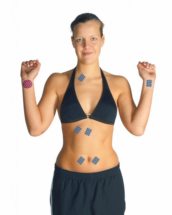 GATAPEX akupunktūras teips apaļšs, bēšs